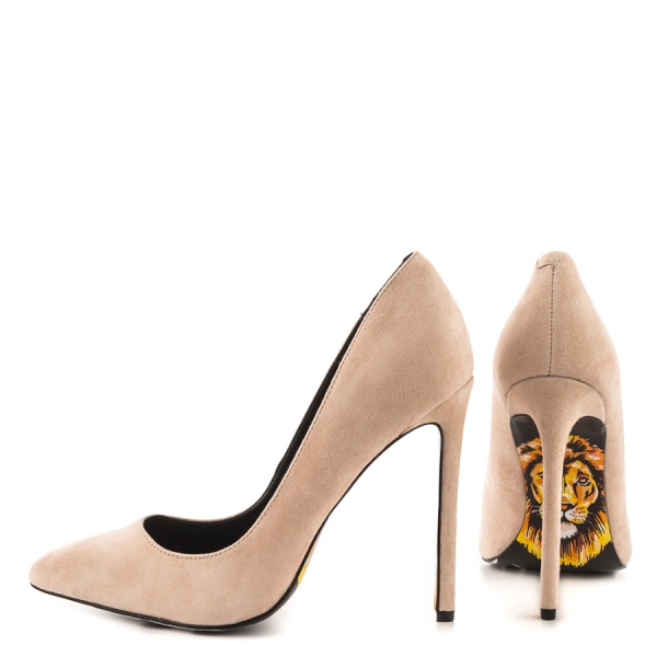 Lion Printed 4 Inch Heels Stiletto Heels Pumps Pointy Toe Office Heels image 2