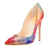 2017 Fall Multi-color 5 Inches Stiletto Heels Pointy Toe Pumps