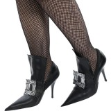 Women's Black Witch Costumes Halloween Buckle Stiletto Heels Pumps