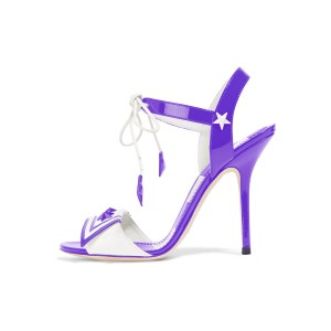 Women's Violet Chic Star Stiletto Heel Strappy  Sandals
