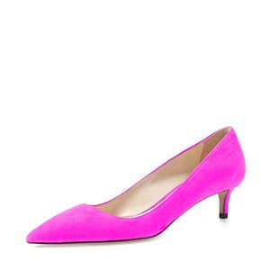 Women's Orchid Pointed Toe Suede Kitten Heels Low-cut Upper Pumps