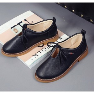 Women's Black Elegant Fortable Flats Oxfords