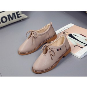 Women's Brown  Elegant Lace Up  Flats Oxfords Vintage Boots
