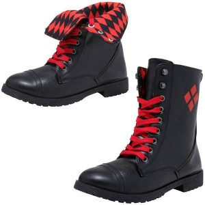 Harley Quinn's Lace-up Ankle Vintage Boots for Halloween
