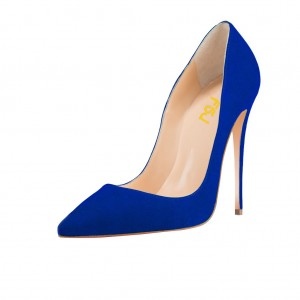 Royal Blue Stiletto Heels Pumps for Office Lady