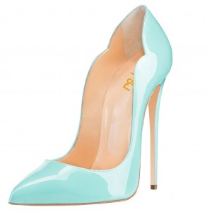 Women's Cyan Sexy Stiletto 4 Inch Heels Pumps