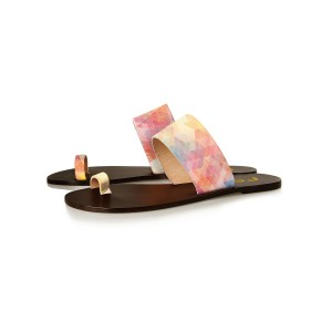 FSJ Multicolor Beach Sandals Summer Flat Sandals US Size 3-15