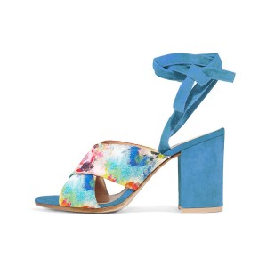 Esther Splash Floral Printed Sandals