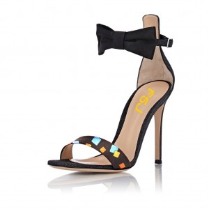 Black Bow D'orsay Sandals
