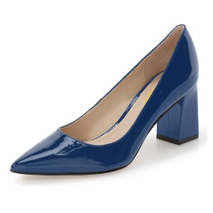 Esther Blue Pointy Toe Pumps
