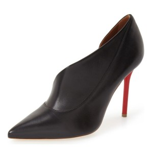 Black Office Heels Pointy Toe 3 Inch Stiletto Heels D'orsay Pumps