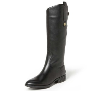 Women's Black Mid-calf Boots Round Toe Casual Boots by FSJ Shoes