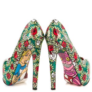 Alice in Wonderland Floral Heels Platform Pumps for Halloween
