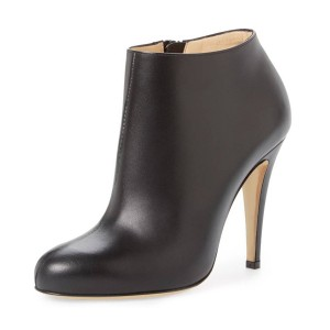 FSJ Black Fashion Boots Chunky Heel Work Ankle Booties US Size 3-15
