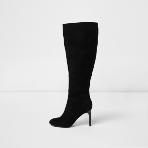 Black Long Boots Stiletto Heels Fashion Knee-high-boots