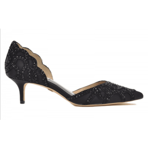 Black Rhinestone Custom Made Double D'orsay Pumps