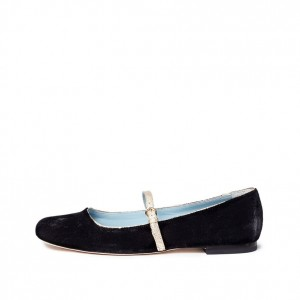 Black Square Toe Mary Jane Shoes Flats