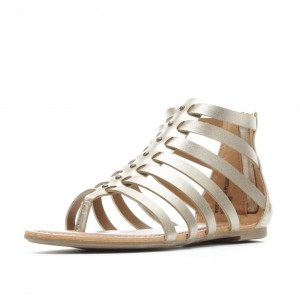 Champagne Gladiator Sandals Vintage Open Toe Summer Sandals