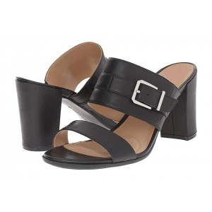 Black Custom Made Block Heel Sandals