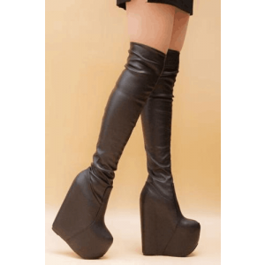 Custom Made Super High Wedge Over-the-Knee Booots