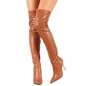 Custom Made Tan Over Knee Boots