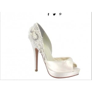 Custom Made White Double D'orsay Wedding Shoes