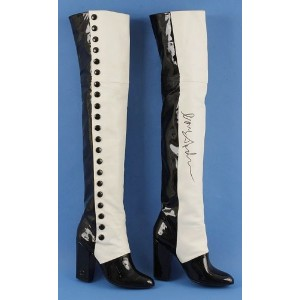 Custom Made Black and White Over-the-Knee Boots