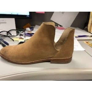 Custom Made Tan Cut Out Ankle Boots