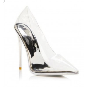 Custom Made Clear Stiletto Heel Pumps