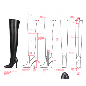 Custom Made Over Knee Boots in Black