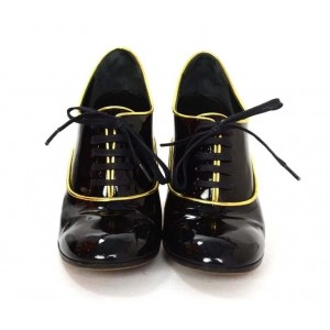 Custom Made Black Patent Leather Oxford Heels for Women