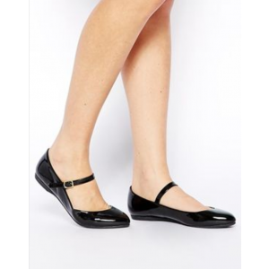 Custom Made Black Round Toe Patent Leather Mary Jane Flats