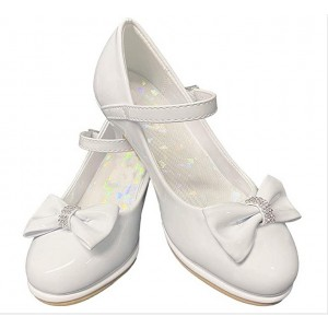 Custom Made White Low Heel Cute Mary Jane Shoes
