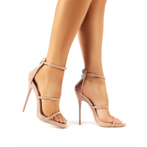Custom Made Nude Patent Leather Dressy Sandals