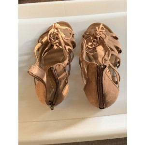 Custom Made Tan Low Heel Gladiator Sandals