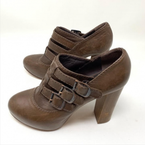 Custom Made Brown Buckle Vintage Ankle Booties