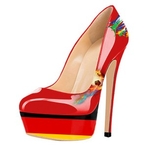 Germany Design Soccer Fans Heels Platform Heels Stiletto Heels Pumps
