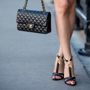 Gold Metal Rings T Strap Black Sexy Stiletto Heels Sandals with Chain
