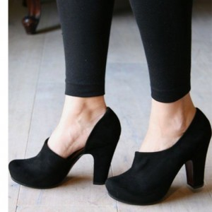 Women's Leila Black Retro Pumps for Spring and Autumn
