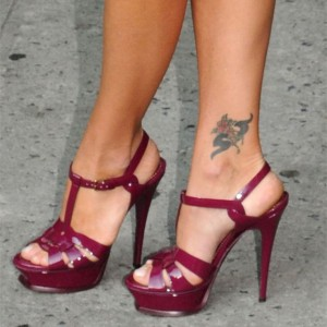 Burgundy Heels T Strap Patent Leather Platform Stiletto Heel Sandals
