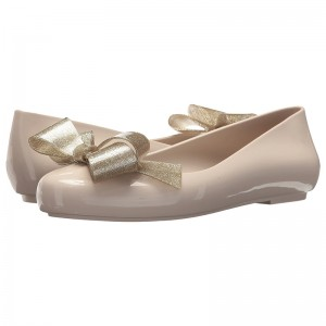 Nude Bow Comfortable Flats Round Toe Flats