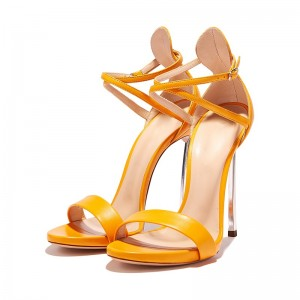 Orange Cross Over Sexy Heels Stiletto Heel Sandals