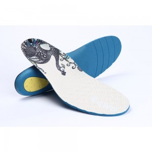 Peacock Printed Comfortable Shoes Insoles