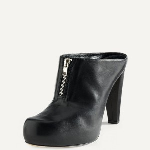 Women's Black Patent Leather Wedge Sandals with Platform