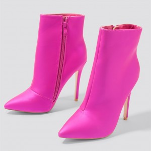 Orchid Classy Pointy Toe Stiletto Heel Ankle Booties