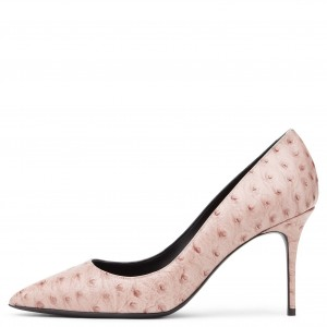 Pink Floral Heels Stiletto Heel Pumps for Women