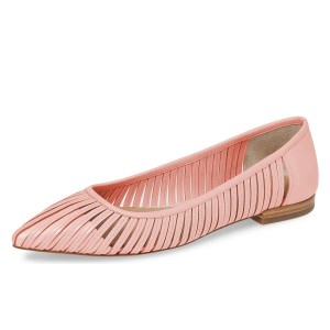 Pink Hollow Out Comfortable Flats