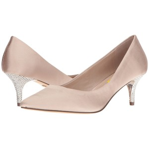 Women's Pink Satin Low-cut Uppers Pumps Bridal Heels