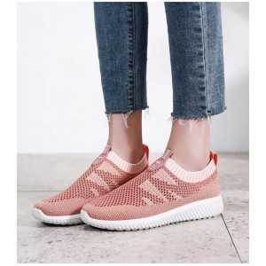 Pink Mesh Running Shoes Casual Sports Shoes Hui Li Sneaker