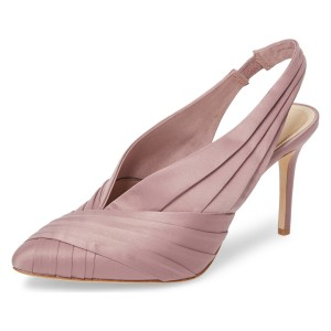 Pink Strappy Stiletto Heel Slingback Pumps